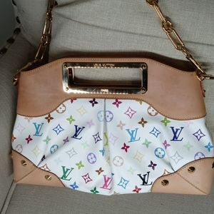 Louis Vuitton Judy bag multicolored white